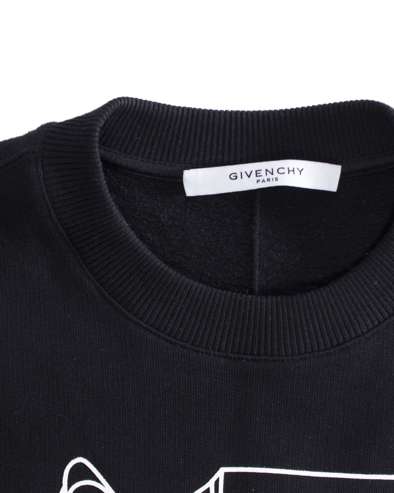 Givenchy Givenchy, Bambi mirror outline crewneck sweatshirt top in size XS.