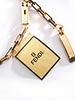 Fendi Fendi, Gold coloured metal interlocking chain belt.