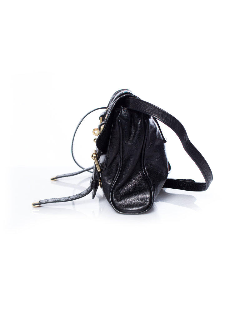 Mulberry, small black leather Alexa crossbody clutch bag.
