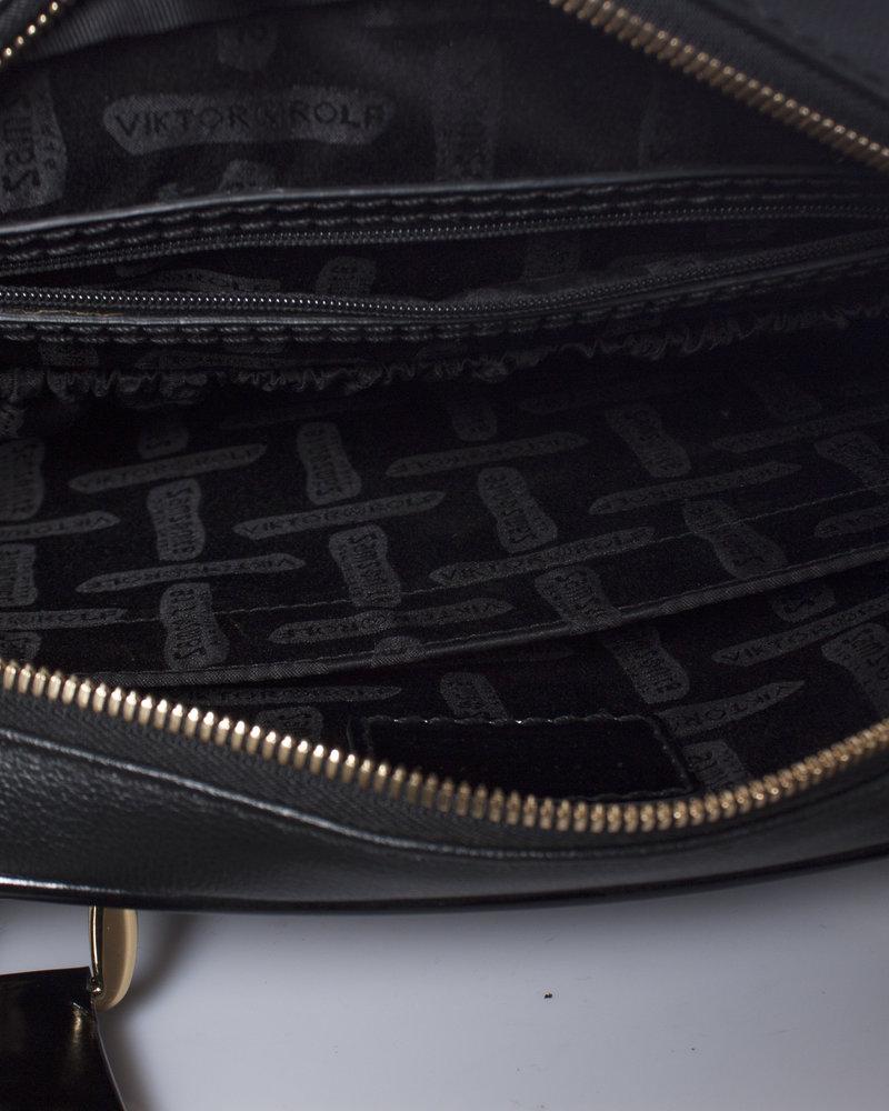 SAMSONITE BLACK LABEL by VIKTOR & ROLF, laptoptas van zwart kunstleer.