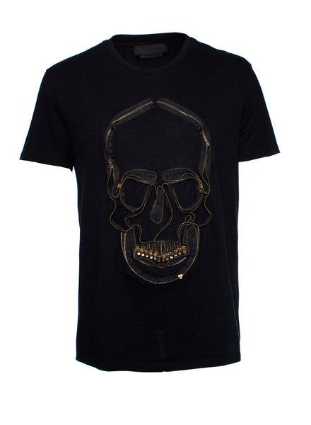 Alexander McQueen Alexander McQueen, Zip skull jersey T-shirt in size XL.