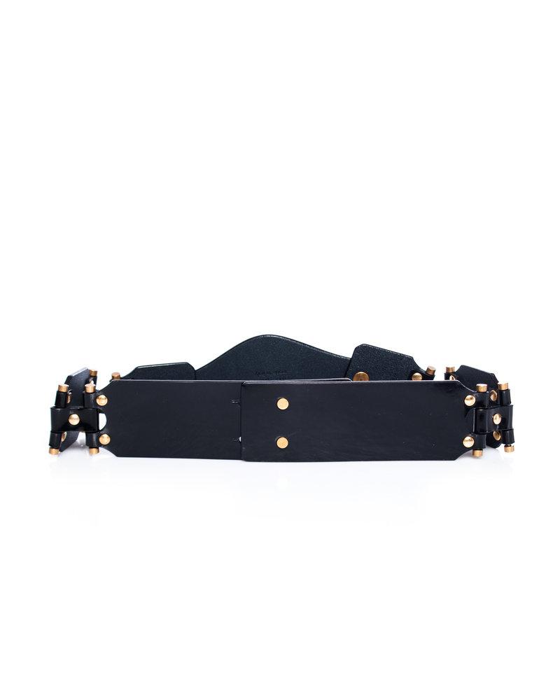 Yves Saint Laurent Yves Saint Laurent, Patent leather waist belt.