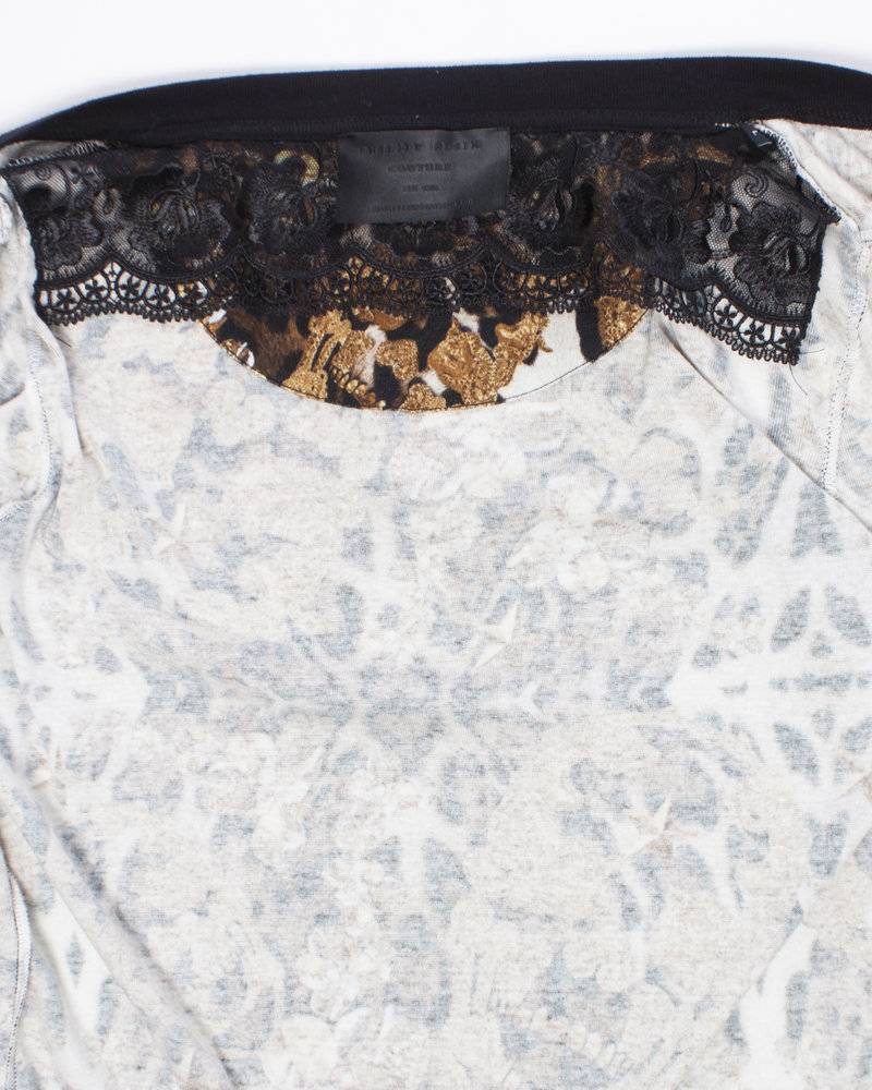 Philipp Plein Philipp Plein, Leopard print cardigan in size S.