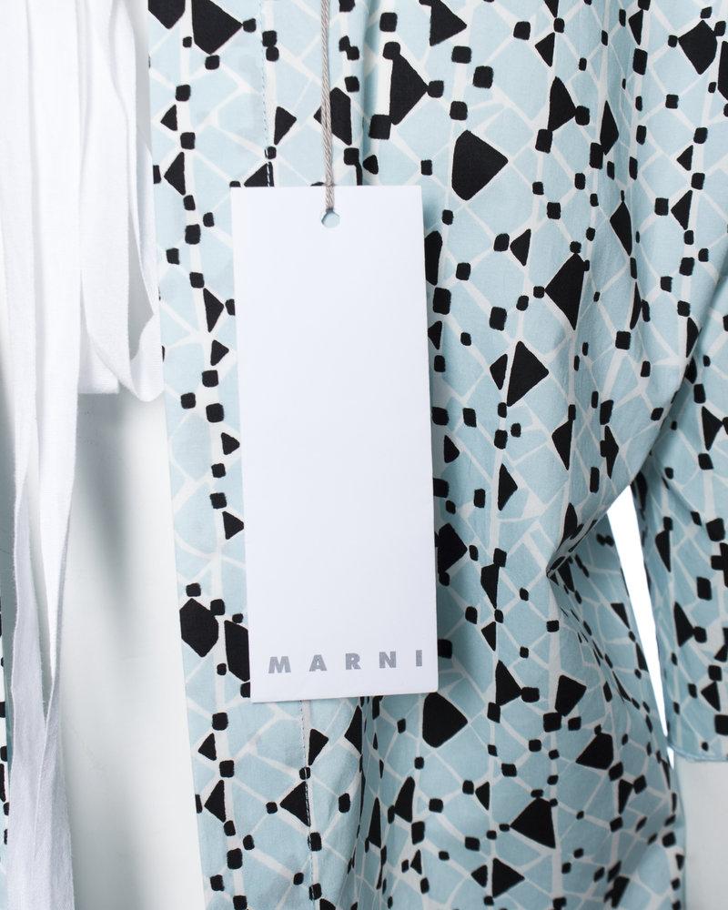 Marni Marni, Cotton poplin blouse with open back.