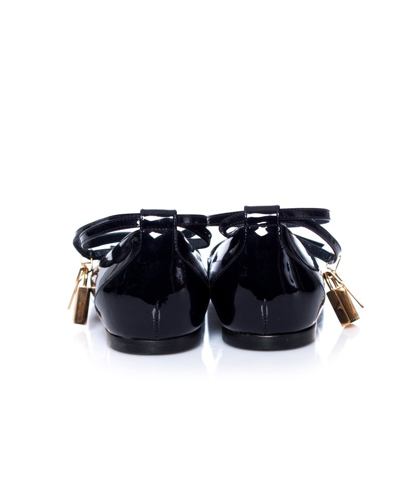 Tom Ford Tom Ford, Patent-leather point-toe flats.