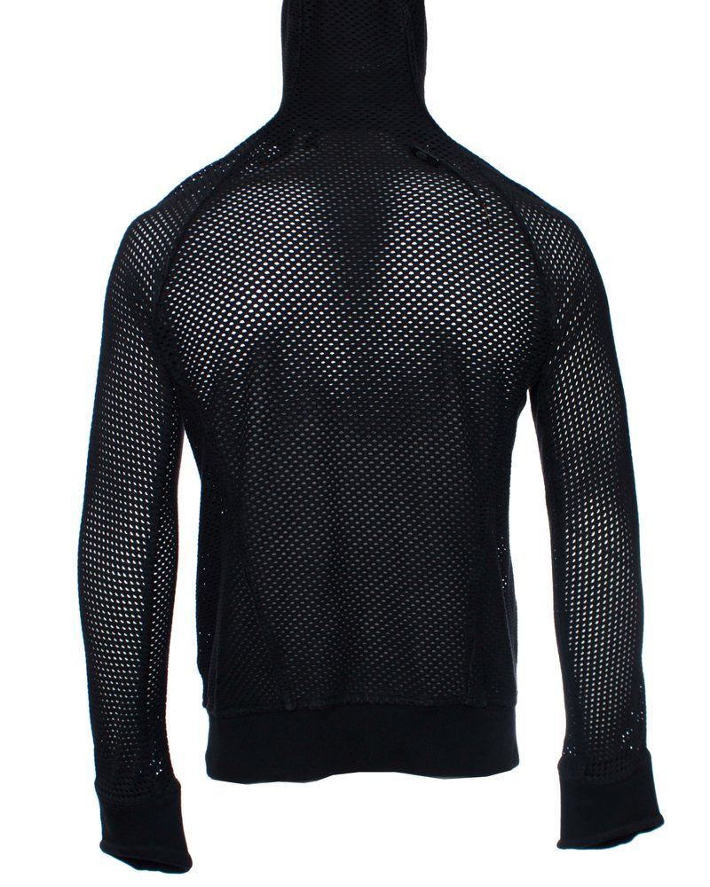 Boris Bidjan Saberi Boris Bidjan Saberi, perforated ninja zipper hoody.