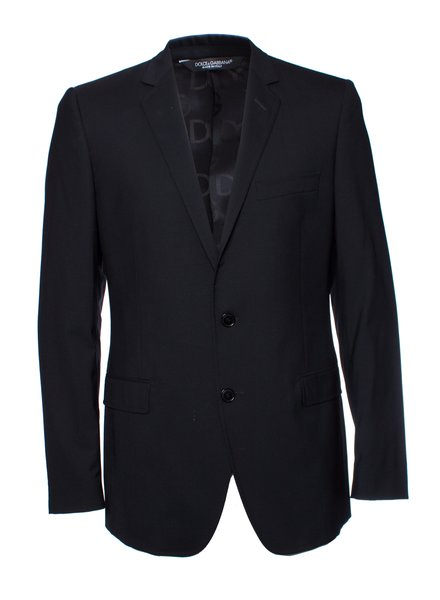 Dolce & Gabbana Dolce & Gabbana, zwarte wollen blazer.