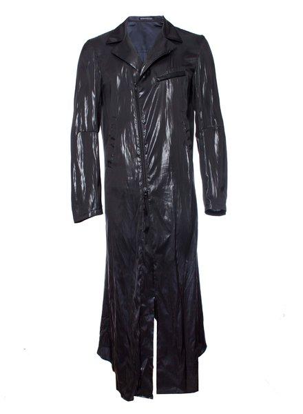 Yohji Yamamoto Yohji Yamamoto, Shiny long jacket.