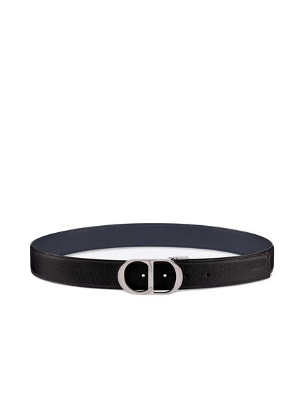 Dior Dior Homme, Mens reversible 35 mm logo buckle belt.