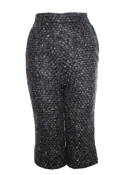 Dolce & Gabbana Dolce & Gabbana, grijze wollen kniebroek.