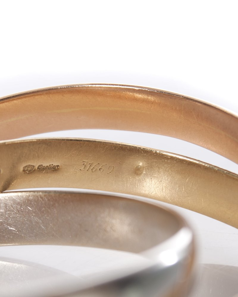 Cartier Cartier, Trinity 18K tri color gold bracelet.