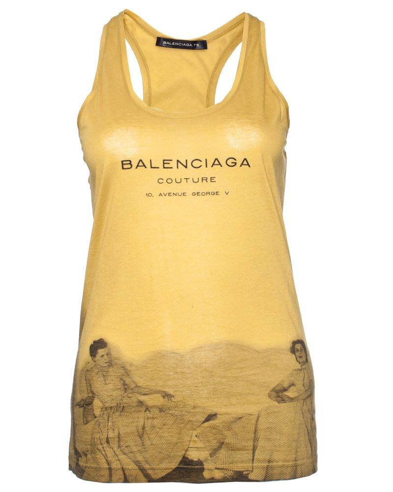 Balenciaga Balenciaga, Ocher yellow tank top