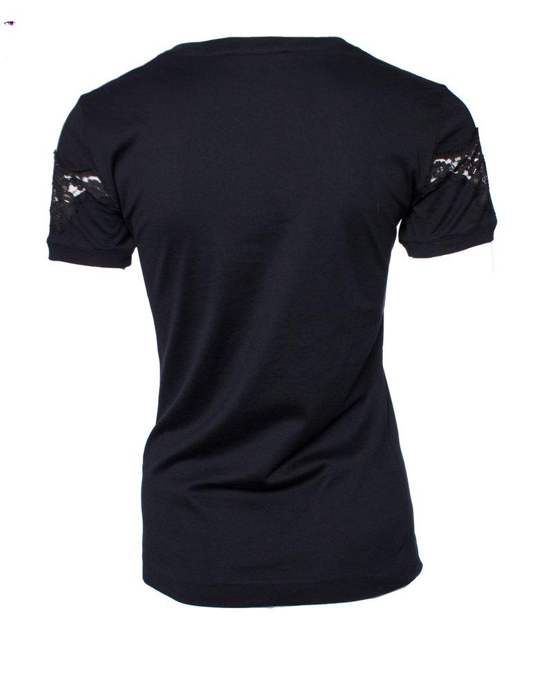 Dolce & Gabbana Dolce & Gabbana, Black T-shirt with lace.