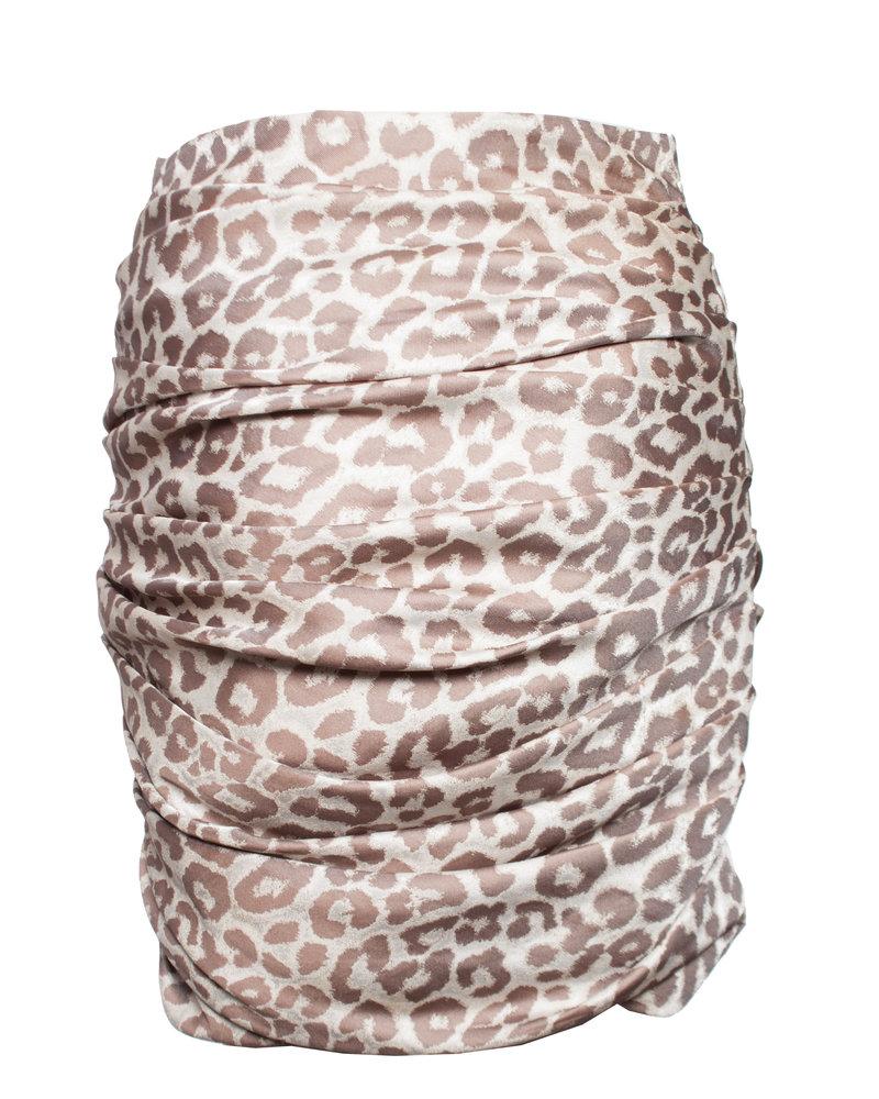 Anne Fontaine, Draped leopard print mini skirt.
