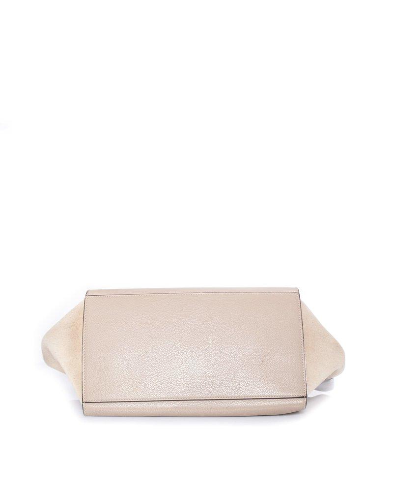 Celine Celine, Trapeze bag in beige.