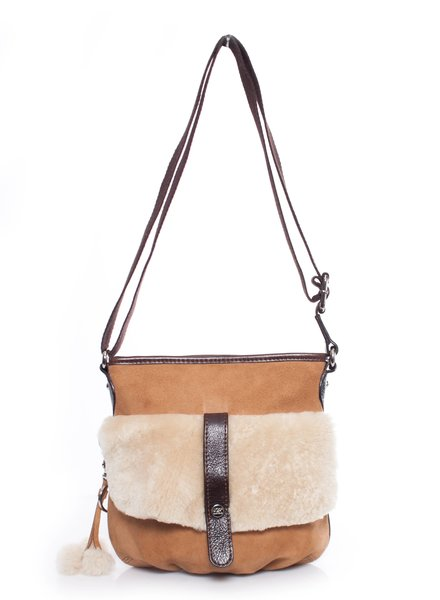 Ugg Ugg Australia, Sheepskin crossbody bag.