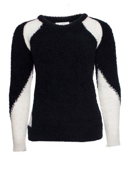 IRO IRO, wool sweater in black and white.