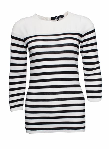 Elisabetta Franchi Elisabetta Franchi, black and white striped top.