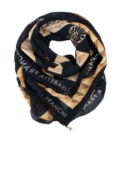 Elisabetta Franchi Elisabetta Franchi, shawl with butterflies and charms.