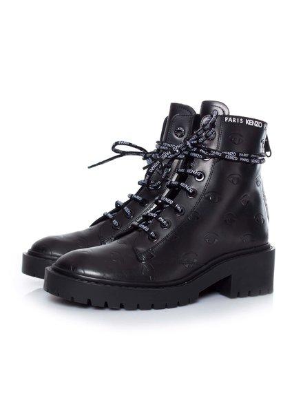 Kenzo Kenzo, Pike eye boots in black.