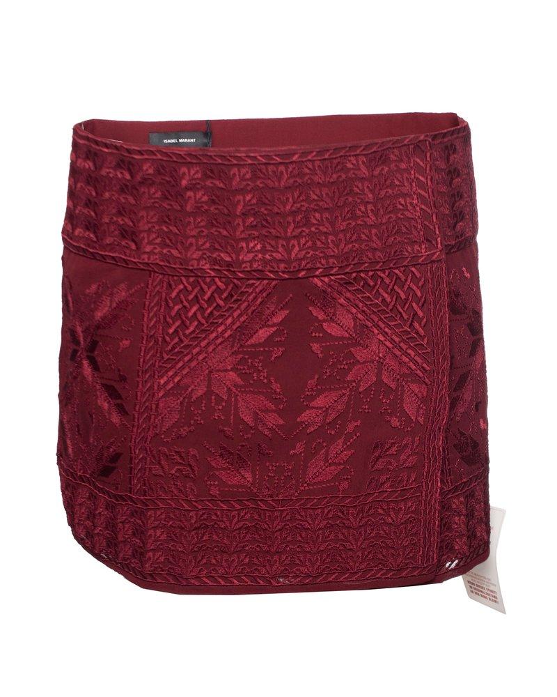 Isabel Marant Isabel Marant, Burgundy red andy skirt