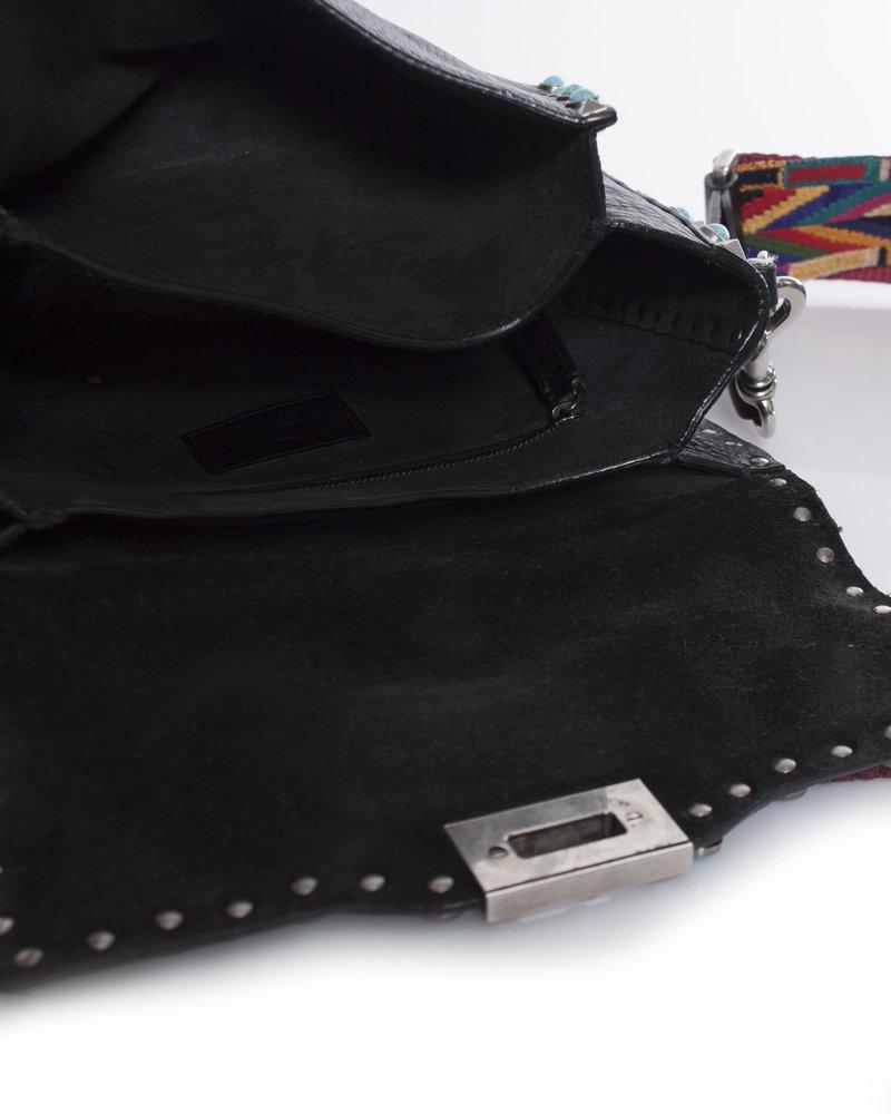 Valentino, Rockstud rolling guitar-strap shoulder bag