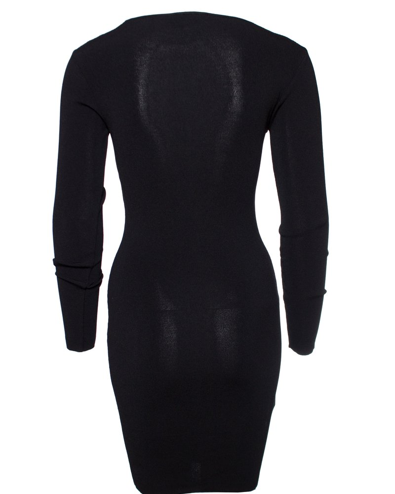 Pinko Pinko, black stretch dress with lace details