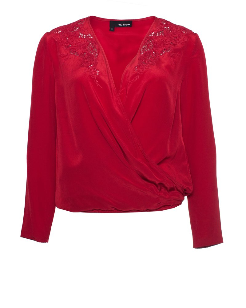 The Kooples The Kooples, Long-sleeved top with Lace Surplice