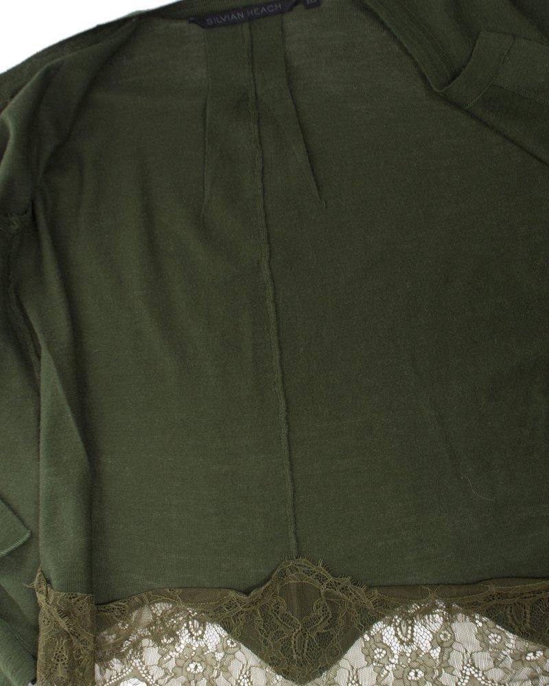 Silvian Heach Silvian Heach, Groen vestje met kant