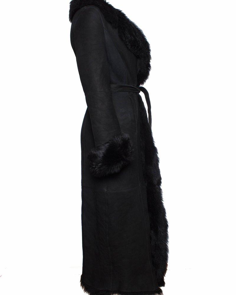 Tony Enzo, Vintage lammy jas met wikkel riem