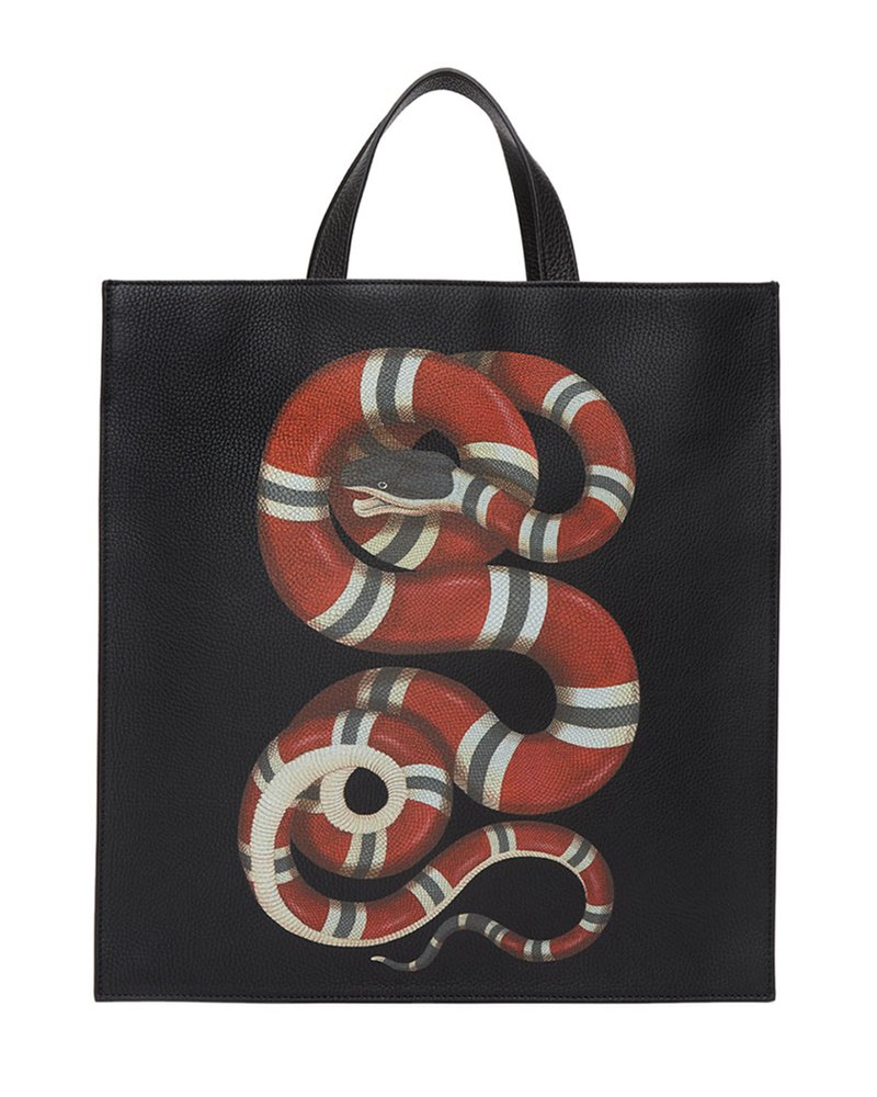 Gucci Gucci, Black King snake tote.