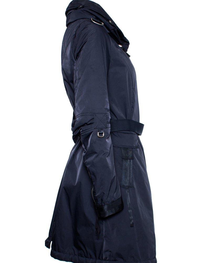 Marithe Francois Girbaud Marithe + Francoise Girbaud, blauwe jas met capuchon
