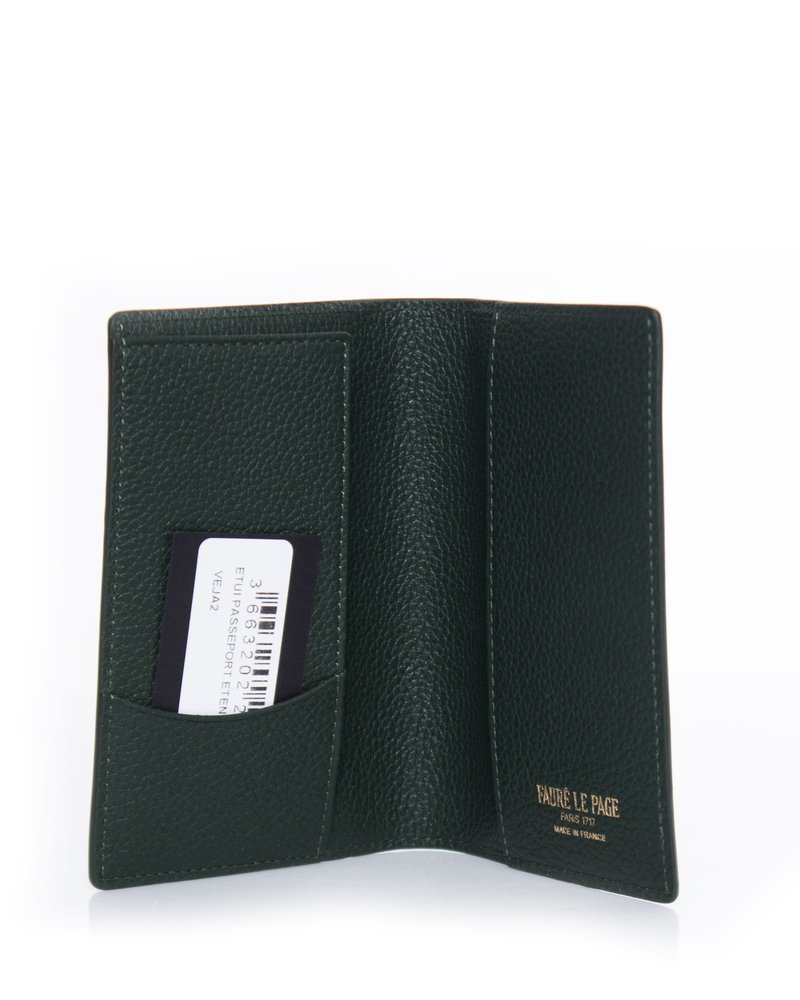 Faure Le Page, Passport holder in green and yellow.