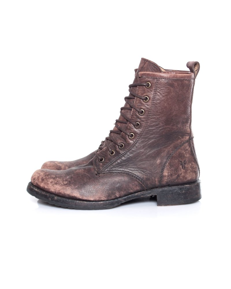 Frye, Bowery lace-up boots.
