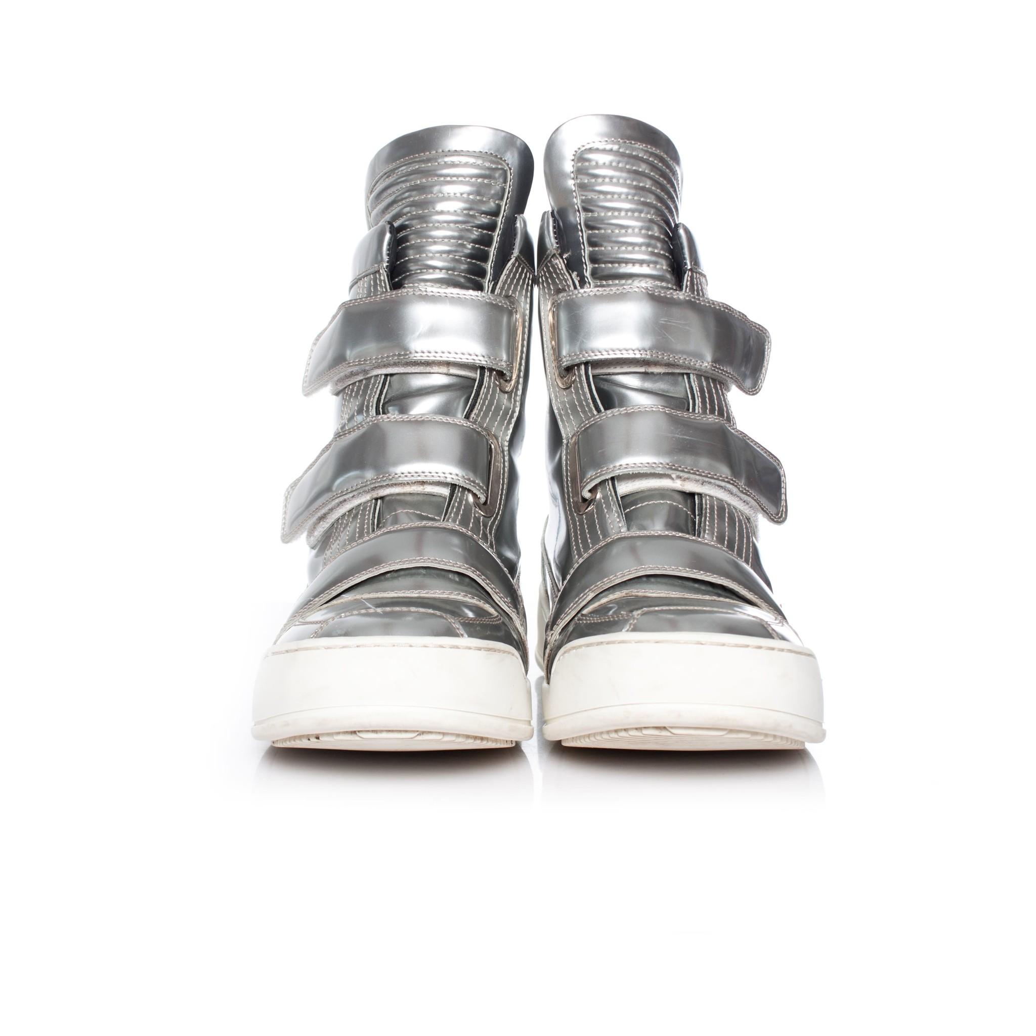 Balmain, Metallic high top sneakers