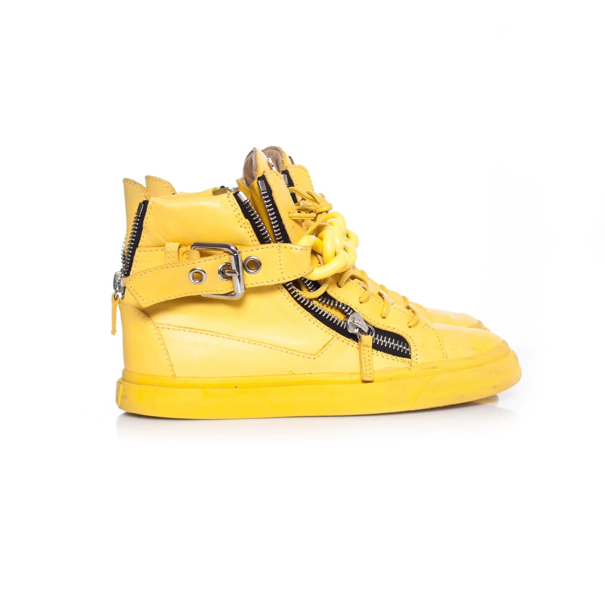 Giuseppe Zanotti, Yellow Chain Leather