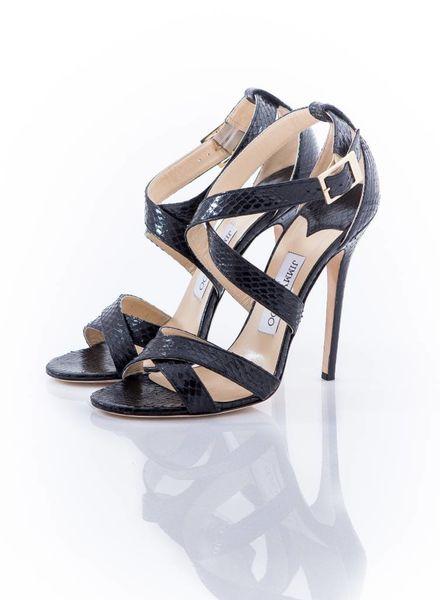 Jimmy Choo Jimmy Choo black python sandals