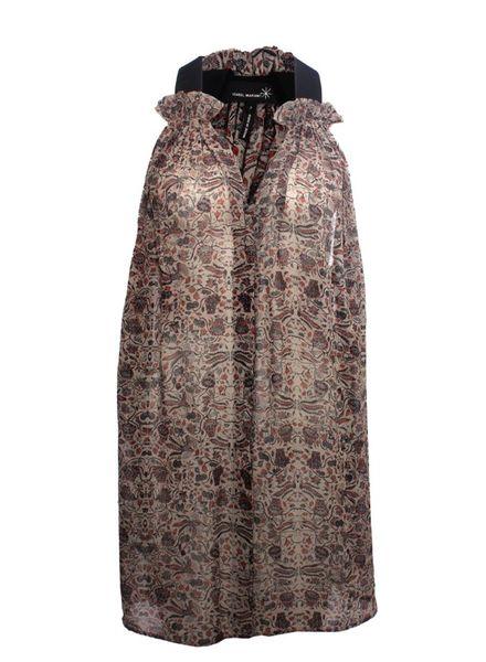 Isabel Marant Isabel Marant, multi-color top/dress with black shoulder band.