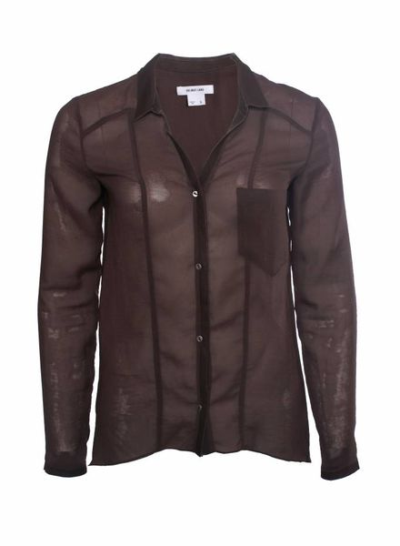 Helmut Lang Helmut Lang, dark brown shirt.