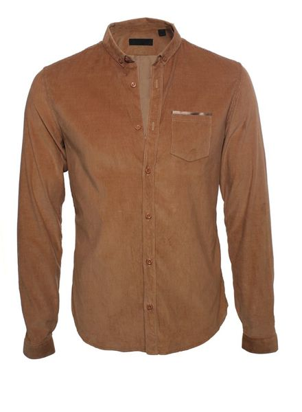 Burberry Prorsum Burberry Prorsum, camel colored corduroy shirt.