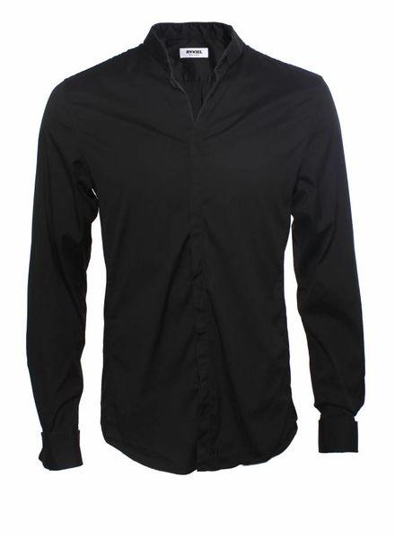 Rykiel Homme Rykiel Homme, black shirt in stretch fabric.
