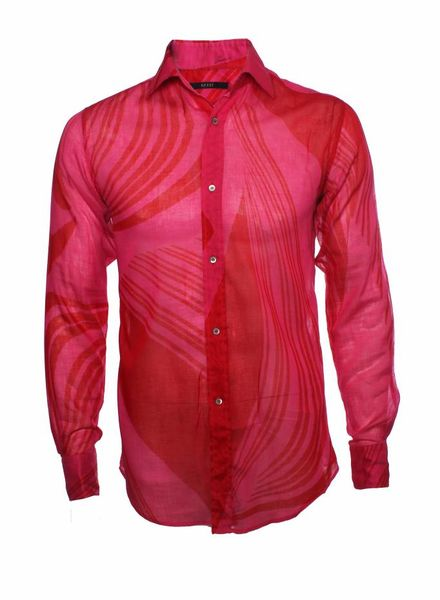 Gucci Gucci, pink semi-see-through cotton shirt in size M.