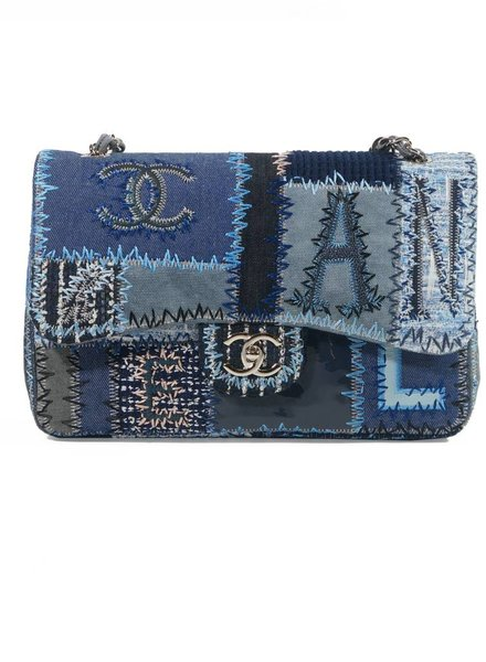 Chanel Chanel 2.55 single flap bag in jeans patch-work