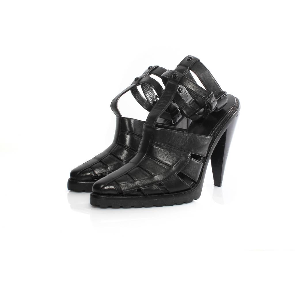 901eb437b00 Alexander Wang Alexander Wang black leather gladiator sandal with black  hardware in size 39.