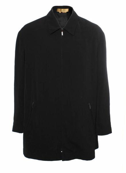 DKNY  Donna Karan, black wind coat in size XL.