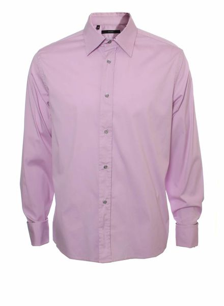 Gucci Gucci, roze overhemd.