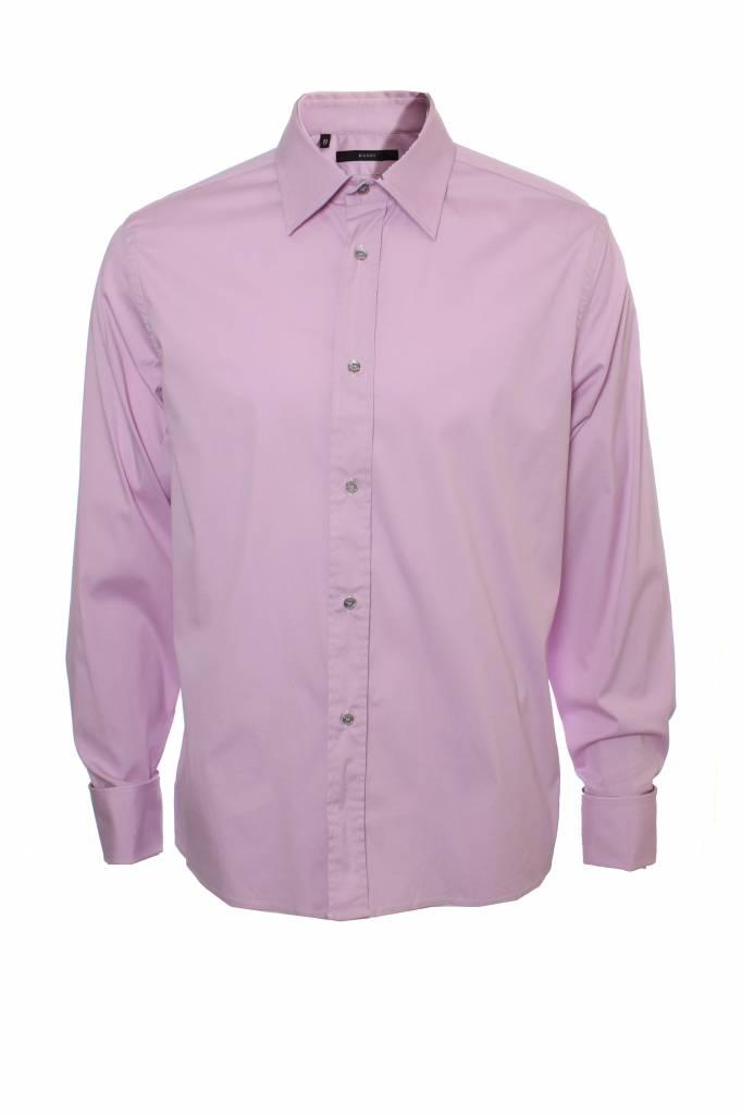 Roze Overhemd.Gucci Gucci Roze Overhemd Met Lange Mouwen En Grijze Knopen In Maat