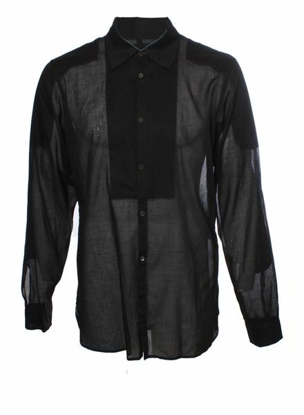 Prada Prada, black long-sleeved shirt in size XL