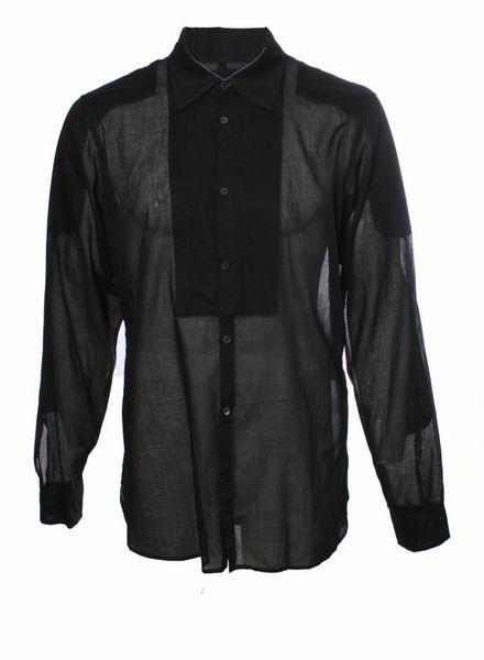 Prada Prada, zwart overhemd met lange mouwen in maat XL