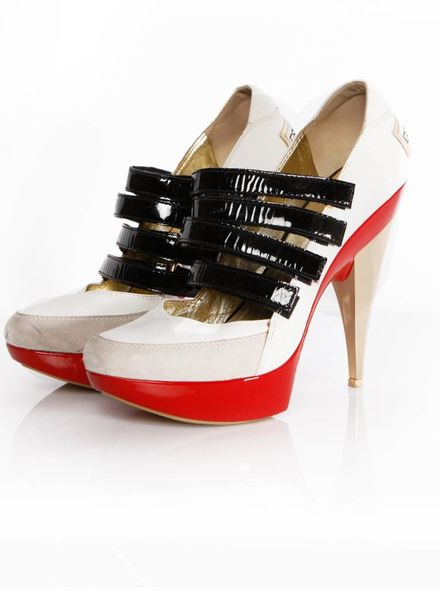 Dsquared2 Dsquared, POP London. Witte sneaker sandal op hoge hak in maat 38.5.